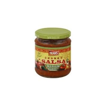 Herr's Salsa, Chunky, Medium, 16 oz, (pack of 3)