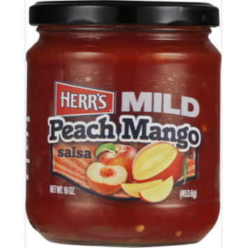 Herr's Mild Peach Mango Salsa 16 oz. Jar (2 Jars)