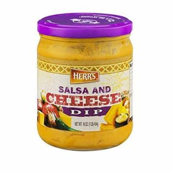 Herr's Salsa and Cheese Dip 16 oz Glass Jar - Pack of 12