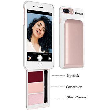 Mobile Phone Case with Cosmetics, FTXJ Unique Phone Case Hidden Back Cosmetic With Lipstick Concealer And Glow Cream