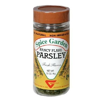 Spice Garden Facy Parsley, Flakes, .32-Ounce Jar (Pack of 8)