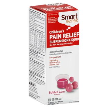 Smart Sense Pain Relief, Children's, Suspension Liquid, Bubble Gum Flavor, 4 fl oz (118 ml) - KMART CORPORATION