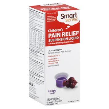 Smart Sense Pain Relief, Children's, Suspension Liquid, Grape Flavor, 4 fl oz (118 ml) - KMART CORPORATION