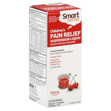 Smart Sense Pain Relief, Children's, Suspension Liquid, Cherry Flavor, 4 fl oz (118 ml) - KMART CORPORATION