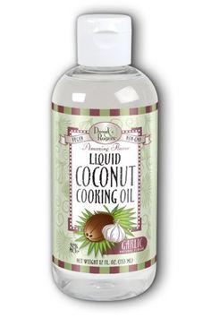 Coconut Cooking OIl Garlic FunFresh 12 oz Liquid