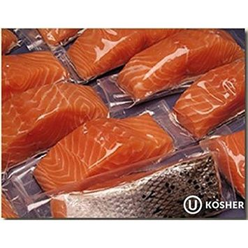 20 X 6 Oz. (7.5 Lb) Premium Fresh Atlantic Salmon Fillets, Individually Vacuum Packed, Ready to Cook.