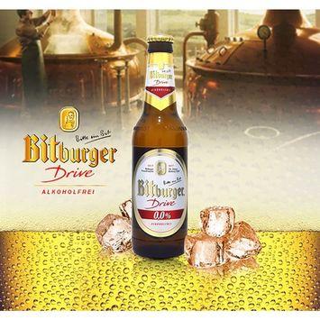 Bitburger Drive Non-Alcoholic Malt Beer, 11.2-oz (330 ml) Case Of 24 Glass Bottles