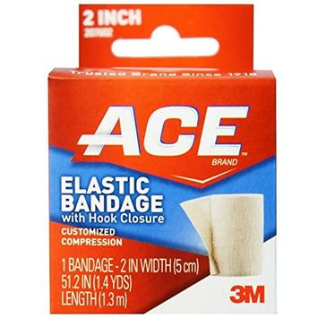 ACE Elastic Bandage With Hook Closure 2 Inches 1 Each (Pack of 2)