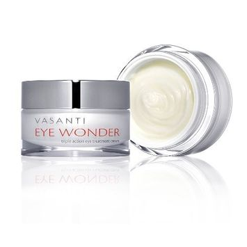 Vasanti Cosmetics EYE WONDER #1 Eye Treatment Cream - Triple Action, Clinically Proven Petptides & Botanicals Reduce Dark Circles, Puffiness, Wrinkles & More! 100% Paraben Free, Safe Anti-Aging, Huge 20mL! Boost Collagen, Look Younger