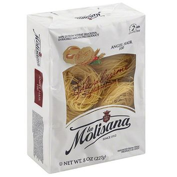 La Molisana Angel Hair Pasta, 8 oz, (Pack of 12)