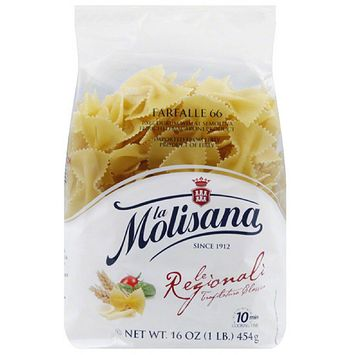 La Molisana Farfalle Pasta, 16 oz, (Pack of 12)