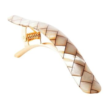 Ficcare Ficcarissimo Hair Clip in Shell Acetate and Gold Small - 4