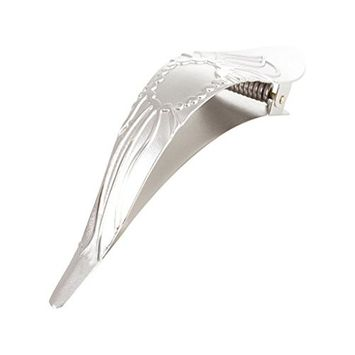 Ficcare Maximas Hair Clip in Lotus 2-Tone in Silver Small