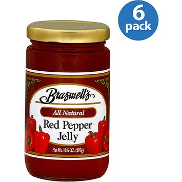 Braswell's Red Pepper Jelly, 10.5 oz, (Pack of 6)