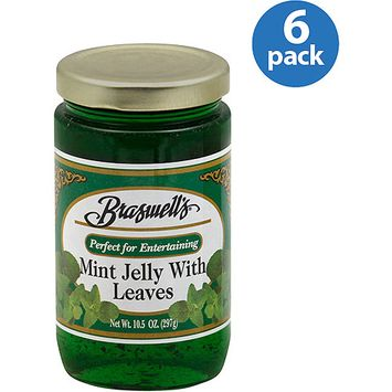 Braswell's Mint Jelly with Leaves, 10.5 oz (Pack of 6)