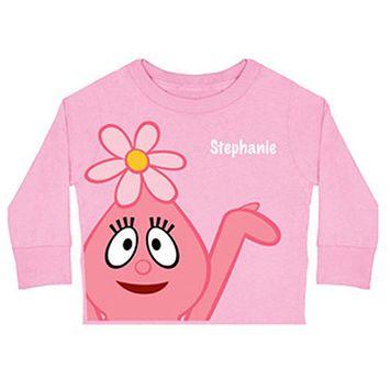 Personalized Yo Gabba Gabba! Foofa Toddler Girl Long-Sleeve Tee