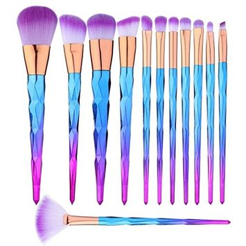 12 Pcs Makeup Brushes Set Premium Foundation Blending Blush Concealer Eye Face Lip Brushes for Powder Liquid Cream Complete Makeup Brushes Kit Synthetic Bristles