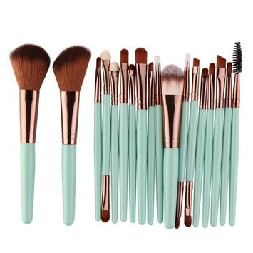 Fheaven 18 PCS Makeup Brush Set Premium Synthetic Solid Foundation Blending Blush Face Powder Brush Makeup Brush Kit