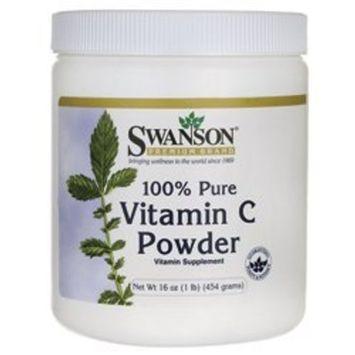 Swanson Premium 100% Pure Vitamin C Powder 16 oz (454 grams) Pwdr