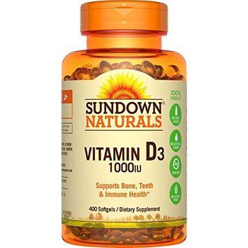 6 Pack Sundown Naturals Vitamin D3 1000IU Dietary Supplement 400 Softgels Each
