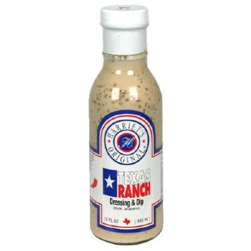 Harriets, Dressing Ranch Texas, 12-Ounce (6 Pack)