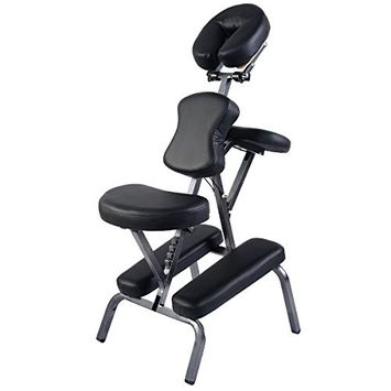 MTN-G Portable PU Leather Pad Travel Massage Tattoo Spa Chair w/ Carrying Bag