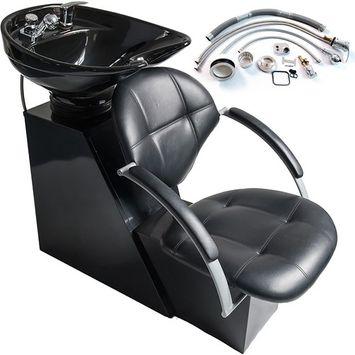 MTN-G Backwash Ceramic Shampoo Chair Bowl Sink Unit Station Beauty Spa Salon Equipment