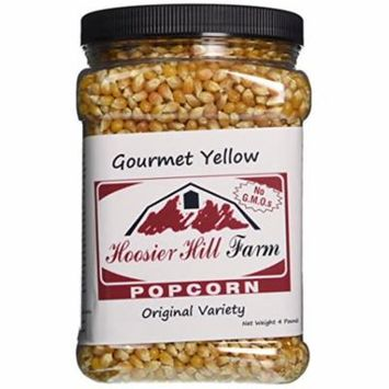 Hoosier Hill Farm Original Yellow Popcorn, 4 lb plastic jar