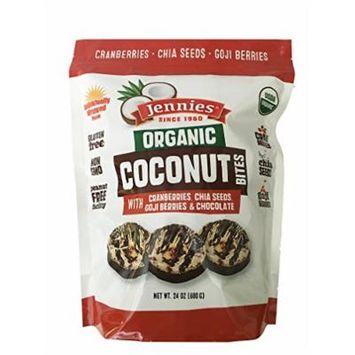 Jennies Organic Coconut Bites, Gluten Free, Peanut Free, Non GMO - 24 Ounce