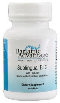 Bariatric Advantage Sublingual B12 with Folic Acid Black Cherry 90 Tablets