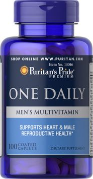 Puritan's Pride 2 Units of One Daily Men's Multivitamin with Lycopene-100-Caplets