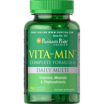 Puritan's Pride Vita-Min Multivitamin (Complete Formula #1)-250 Caplets
