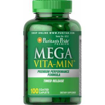 Puritan's Pride Mega Vita-Min Multivitamin Timed Release-100 Caplets
