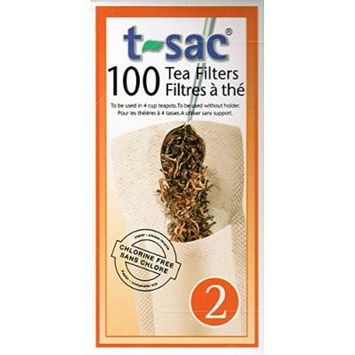 T-Sac Tea Filters, Size 2 (2-4 Cups), 100-count box (4)
