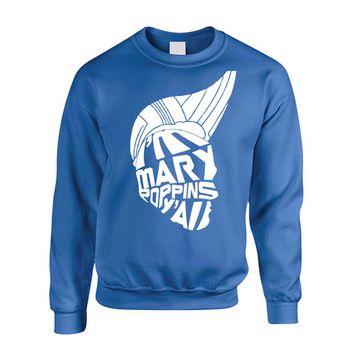 Allntrends Adult Sweatshirt I'm Mary Poppins Y'all Trending Tops Popular Top (3XL, Royal Blue)