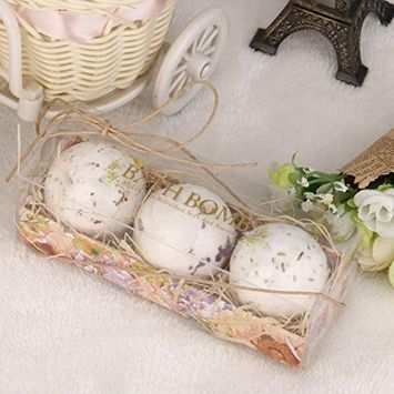 Bath Bombs Gift Set, Lotus.flower Handmade Organic Bath Sea Salts Made Fizzies Body Scrub Dry Skin Moisturize - Perfect for Bubble & Spa Bath