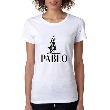 Allntrends Women's T Shirt Pablo Escobar Mexico El Patron T Shirt (3XL, White)