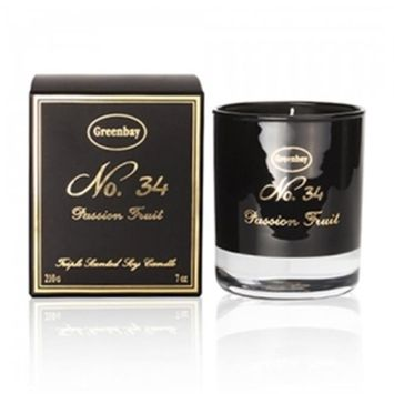 Greenbay EBC-10034 7 oz Triple Scented Pure Soy Candle No. 34 Passion Fruit Fragrance