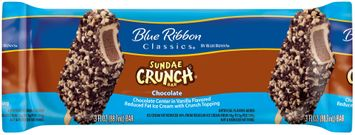 Blue Ribbon Classics® Chocolate Sundae Crunch® Ice Cream Bar Wrapper