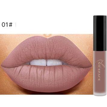 Lipstick Set,Putars Fashion New Lip Lingerie Matte Liquid Lipstick Waterproof Lip Gloss Makeup 12 Shades