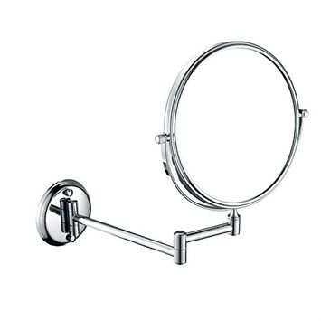 GURUN Double Sided Wall Mounted Makeup Mirror with 5x Magnification,8 inch,Nickel brushed M1306N(8in,5x)