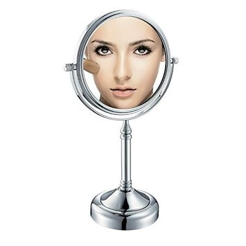 GuRun 8-inch Tabletop Two-sided Swivel Makeup Mirrors with 7x Magnification,Chrome Finish M2251(8in,7x)