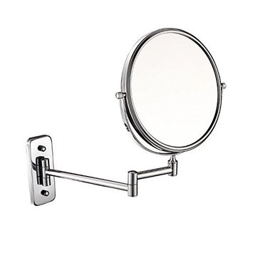 GURUN 8 inch double-sided Wall Mount Makeup Mirror with 7x Magnification,Gold Finish M1406J(8in,7x)