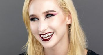 Halloween Makeup DIY: Glampire