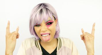 Halloween Makeup DIY: '80s Rocker