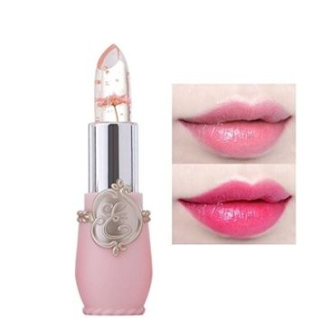 Magic Jelly Lipstick, Bolayu Beauty Bright Flower Crystal Temperature Change Color Lip