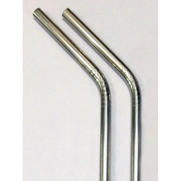 Stainless Steel Drinking Straws - 2 pack metal straw + Cleaner - Eco Friendly, SAFE, NON-TOXIC non-plastic