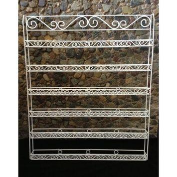 Pana Nail Polish Display Organizer Metal Wall Mounted Rack - Fit up to 100 Nail Polish Bottles - For Home Salon Business Spa (White Color)