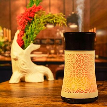LED Humidifier,vmree Aroma Essential Oil Ultrasonic Humidifier Air Diffuser Purifier Atomizer
