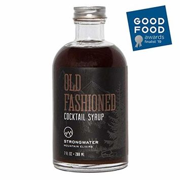 Strongwater - Old Fashioned Cocktail Syrup Drink Mixer | Bitters Blend with Organic Demerara Sugar | 8 oz [Old Fashioned Syrup]